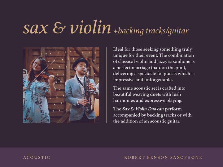 Sax & Violin - ACOUSTIC