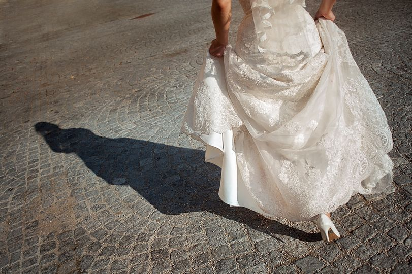 Walking bride