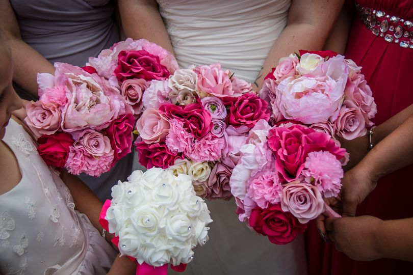 Weding party bouquets