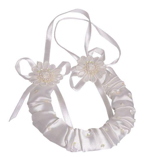 Ivory Flower Bridal Horseshoe