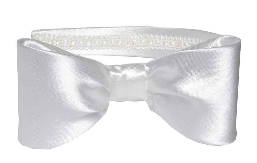 Cutest Ivory Bow Satin Aliceband