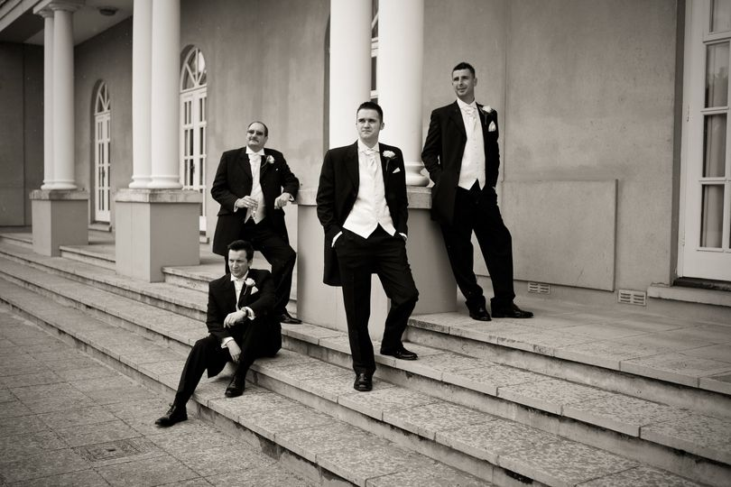 The men - Wedding party group