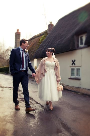 The new Mr & Mrs walking