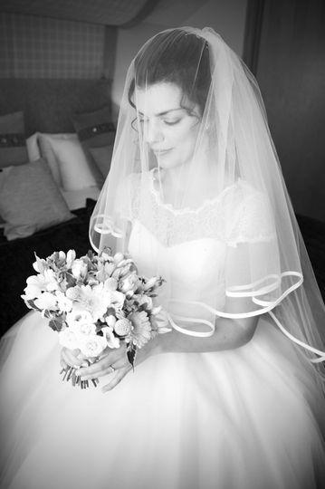 Bride having a quiet moment