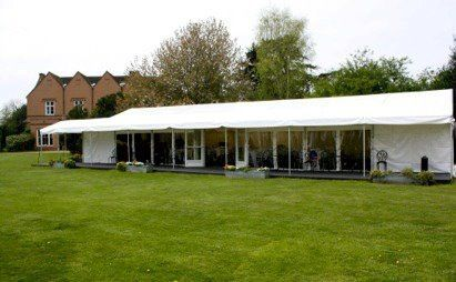 House and garden marquee from park