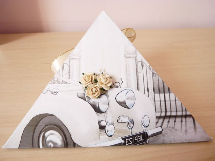 Wedding Car Favour Box