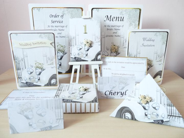 Wedding Car Stationery Set