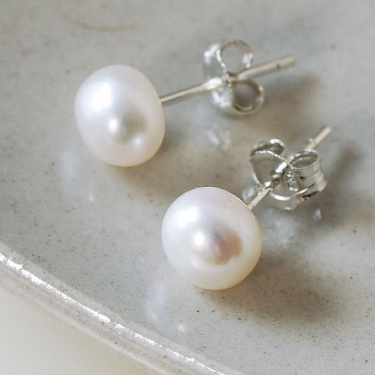 97946c85c Ivory pearl stud earrings from Highland Angel | Photo 11