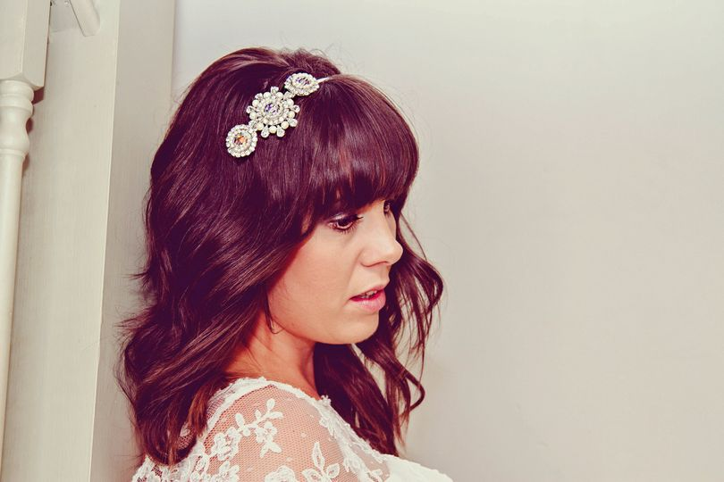 'Polly' bridal side headpiece