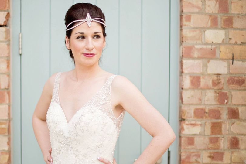 Stephanie bridal headpiece