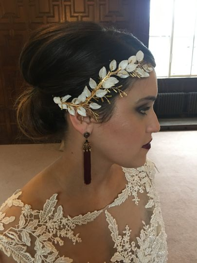 Magdalena bridal headpiece