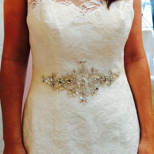 'Margaret' bridal belt/sash