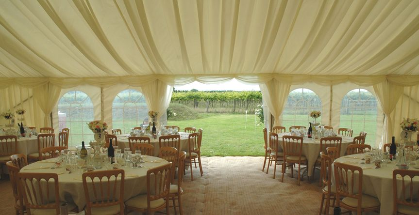 Highdown Vineyard Marquee Wedding