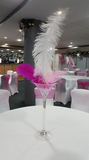 Feathered martini