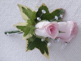 Rose Boutonniere with sparkle