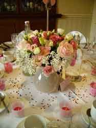 Table Arrangement with Roses