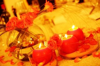 Table Centrepieces with Candles