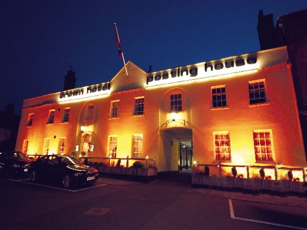 The Crown Hotel by night