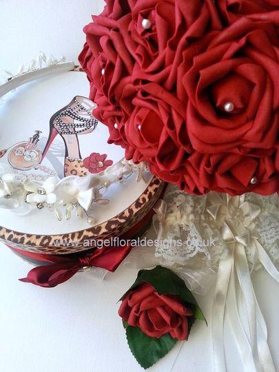 Bouquet, Headband and Garter