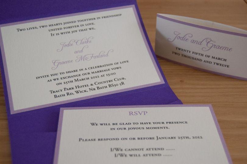 Purple pocketfold with inserts