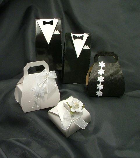 Black & White Favour Boxes