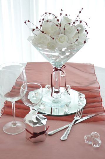 WhiteFlower Table Centre