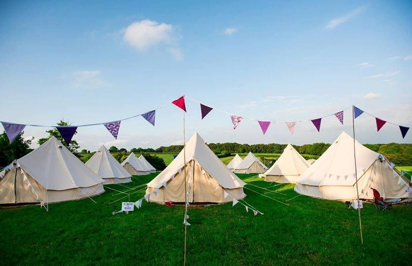 Glamping on the meadow