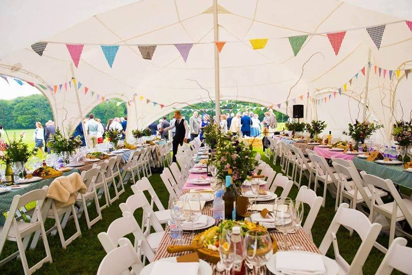 Marquee on the meadow