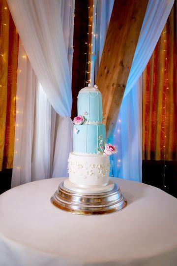 Birdcage inspired Wedding Cake