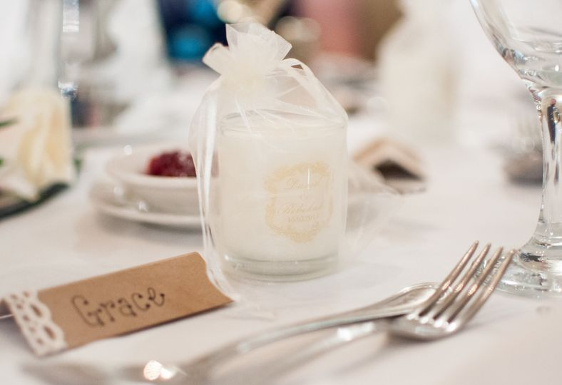 Wedding Favours on table