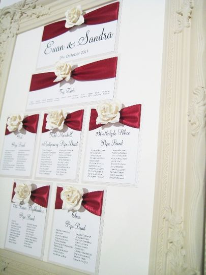 Rose reception seating plans