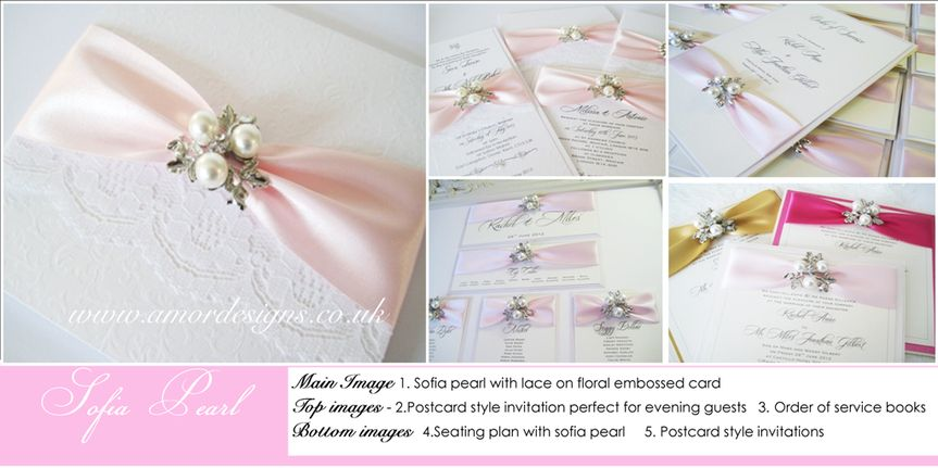 Pearl wedding invitations