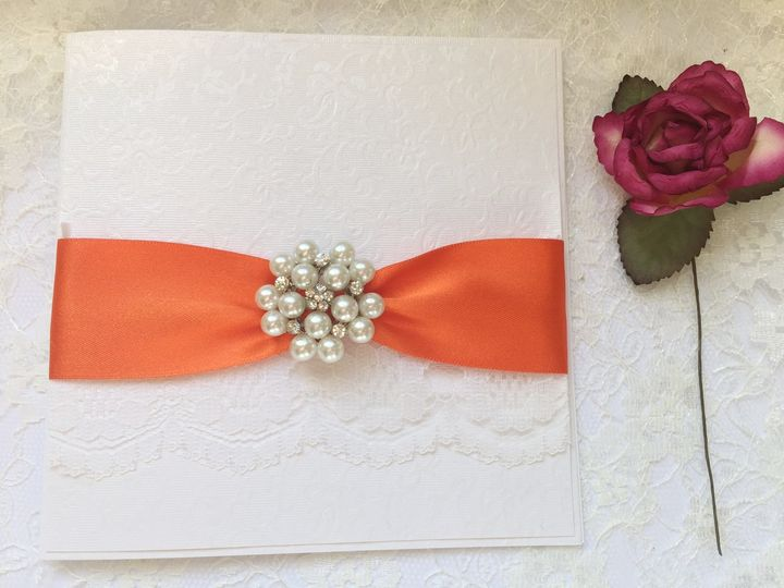 Invitations with lace