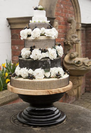 cheese wedding cake oxfordshire black berry roses from c est cheese photo 5 12604
