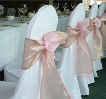 Pale Rose Chair Sashes
