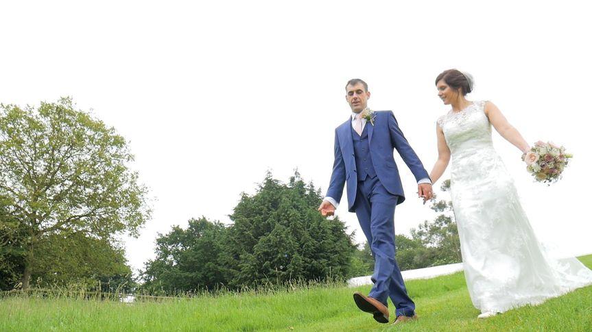 Scene of couple walking