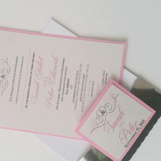 Silver wallet invitation