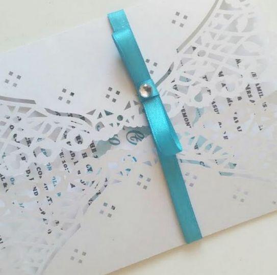 Laser cut invitation