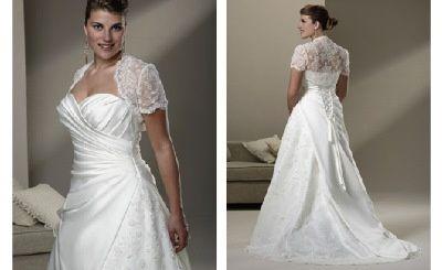 Wedding dress with lace bolero