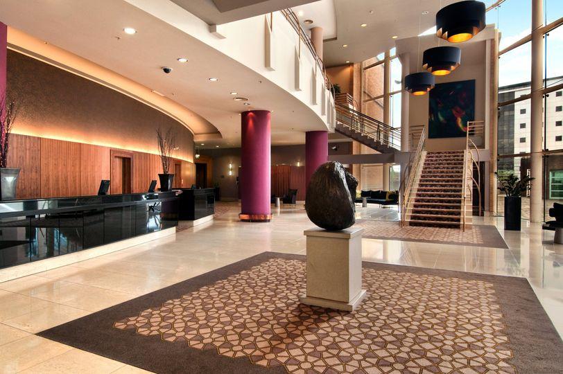 Lobby at Hilton Belfast