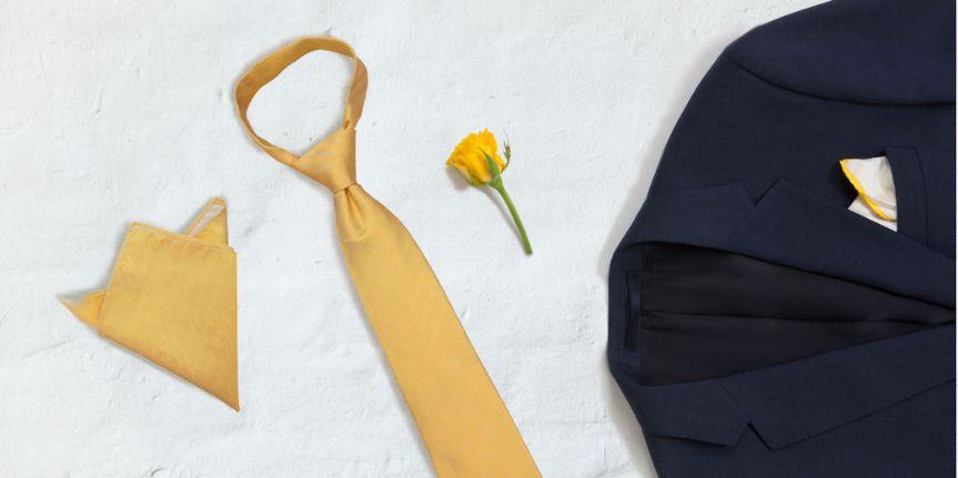 Silk Primrose Yellow Tie