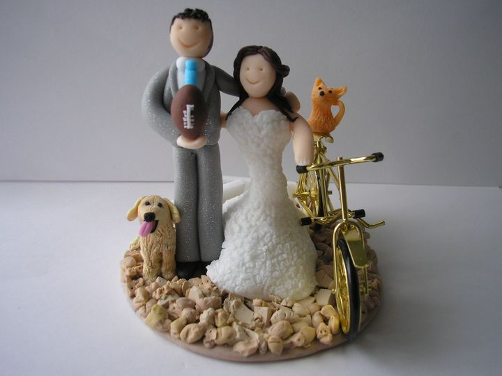 Cycling bride rugby groom