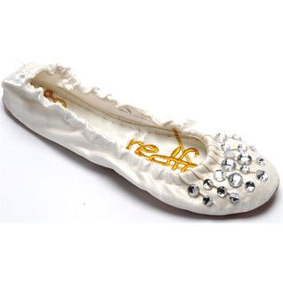 Cheryl White Fold Up Shoes