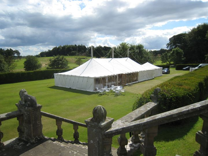 Marquee on lower lawn
