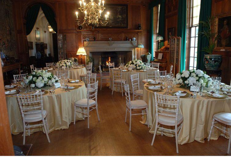 Great Hall wedding dinner