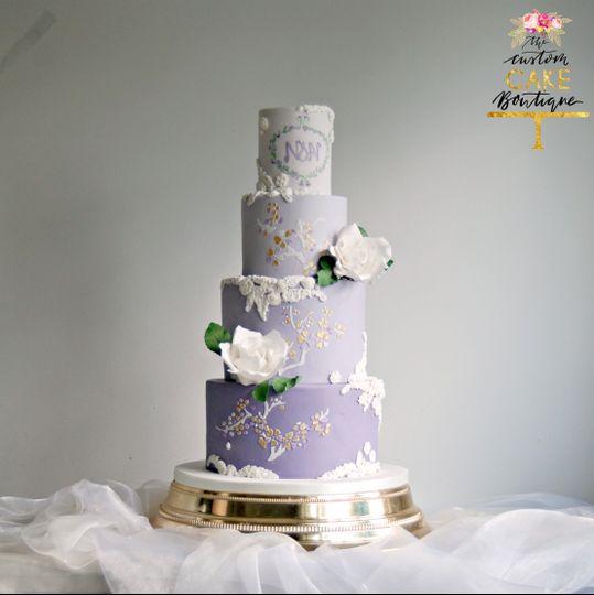 Purple ombre & white sugar ros