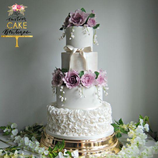 Purple Sugar Roses & Ruffles
