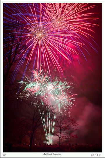 Rainbow Fireworks display