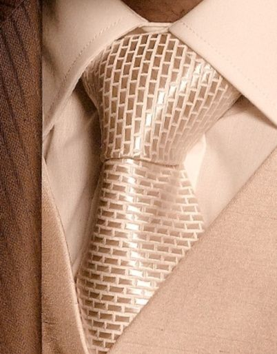 Ivory Brick Design Tie