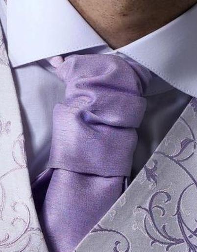 Lilac Dupion Cravat